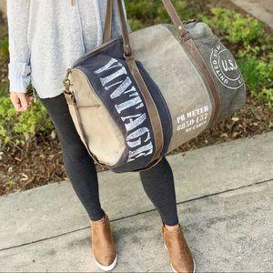 """Handbags - VINTAGE """"USA"""" PRINT TRAVELLER BAG"""